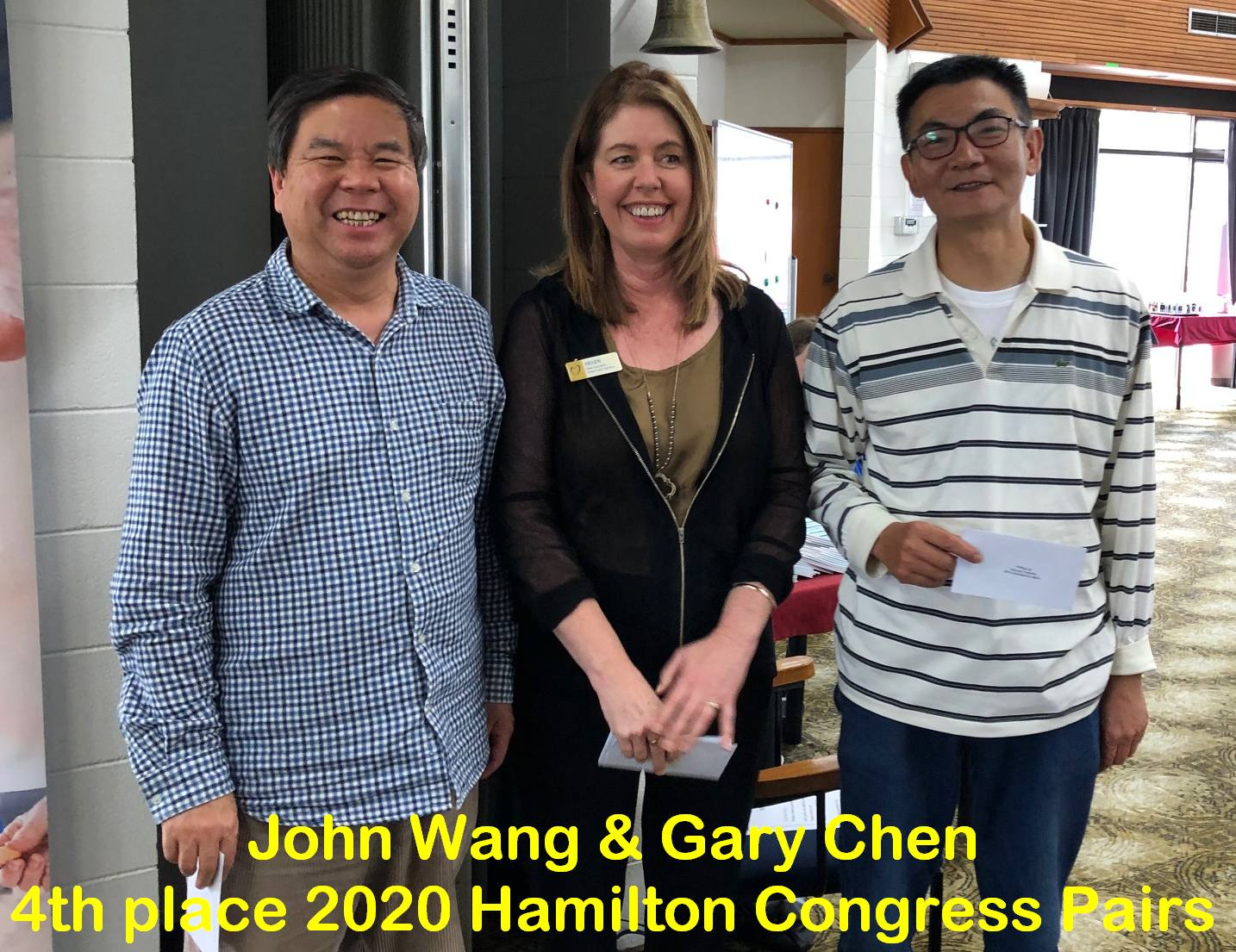 1st place at Hamilton Bridge's Congress Pairs Tournament